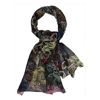Runway multi color modal scarf