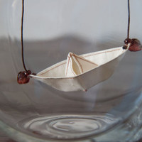 Paper Boat necklace by altdesign on Etsy