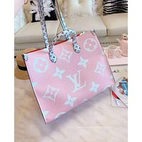 Louis vuitton shopping bag with fashionable printed patchwork color hot seller for women's shoulder bag