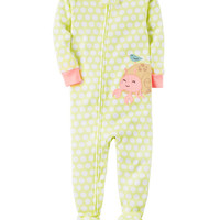 1-Piece Snug Fit Neon Cotton PJs