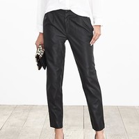 Banana Republic Womens Pleated Faux Leather Ankle Pant