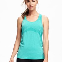 Go-Dry Fitted Performance Seamless Tank for Women | Old Navy