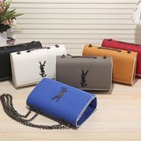YSL 2017 new fashion leather Scrub Shoulder Bag [110392836111]