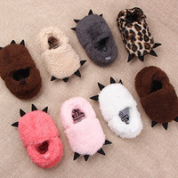 Baby Plush Paw First walkers Toddler Girls Boys Prewalker Shoes Infants Winter Sapatos