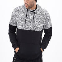 Colorblocked Animal Print Hoodie