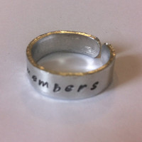 Love Remembers ring | Dementia awareness | Alzheimers | Remembrance jewellery | memorial jewellery | Awareness ring | Family memories