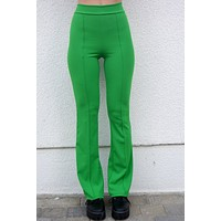 Stop Whispering Kelly Green Flare Pants