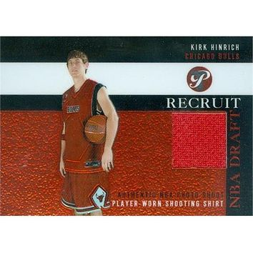 Autograph Warehouse 466461 Kirk Hinrich Player Chicago Bulls Worn Jersey Patch Basketball Card 2003 Topps Pristine Recruit PRKH
