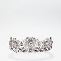 Jewelry and bijoux for women | Dolce&Gabbana - METAL CROWN WITH CRYSTALS