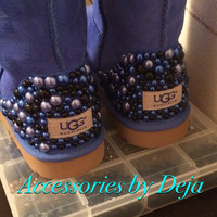 Pearled ugg boots