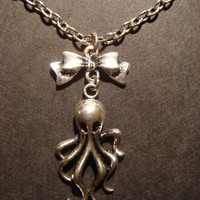 Girly Octopus Necklace by CreepyCreationz on Etsy