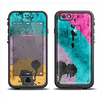 The Colorful Grunge Target Skin Set for the Apple iPhone 6 LifeProof Fre Case