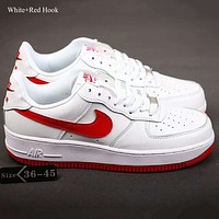 NIKE AIR FORCE1'07 LV8 Women Men Running Sport Casual Shoes Sneakers Air force Red Hook G-SSRS-CJZX