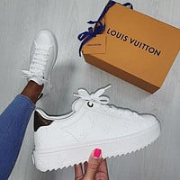 Louis Vuitton LV embossed logo Low-Top sneakers shoes