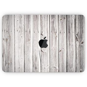 """Aged White Wood Planks - Skin Decal Wrap Kit Compatible with the Apple MacBook Pro, Pro with Touch Bar or Air (11"""", 12"""", 13"""", 15"""" & 16"""" - All Versions Available)"""