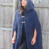 Womens customizable crocheted cloak. High fashion/ medieval outerwear