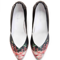 Limited Edition Juliette Pump with Flamingo Print & Matching Tee