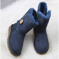 UGG Women Fashion Wool Snow Boots  Middle Tube