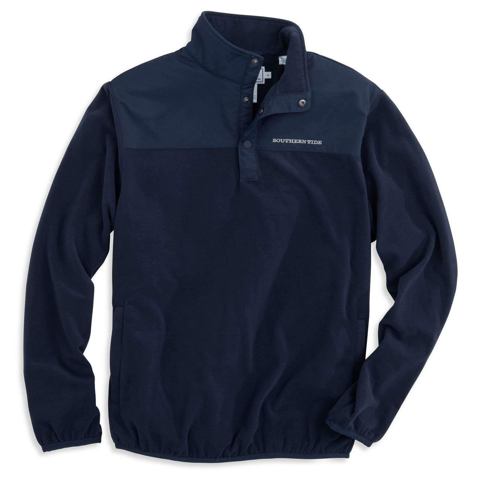 Image of Navigational Fleece Pullover in True Navy by Southern Tide