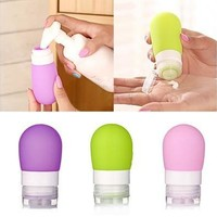Empty Silicone Travel Packing Bottle Press Bottle for Lotion Shampoo Bath Container [8045583239]