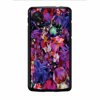 Lush Floral Pattern Beaming Orchid Purple Nexus 5 Case