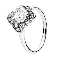 Authentic Pandora Jewelry - Crystallized Floral Fancy Ring
