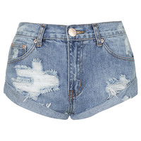 **Ripped Raw Hem Denim Shorts by Glamorous - New In This Week - New In