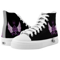 Ace Asexual LGBT Pride Wings and Crown Printed Shoes