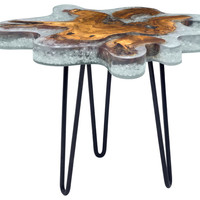 Jigsaw Collection Side Table, Natural - Contemporary - Side Tables And End Tables - by Zuo Modern Contemporary