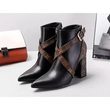 "Hot Sale ""Louis Vuitton"" LV Popular Women Heels Shoes Boots I-ALS-XZ"