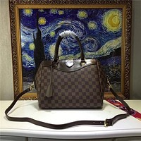 LV Louis Vuitton DAMIER LEATHER SIENA HANDBAG SHOULDER BAG