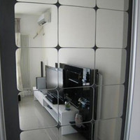 1Pc Square Mirror Tile Wall Stickers 3D Decal Mosaic Home Room Decoration DIY For Living Room