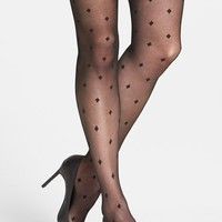 Women's Vince Camuto Windowpane Mesh Tights ,