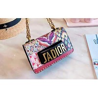 Dior fashion Mosaic color print lady shopping bag hot selling shoulder bag