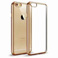 For iPhone 6s Case Premium Flexible Soft TPU Bumper Silicone Electroplate Frame Crystal Back Cover Slim Mobile Phone Accessories