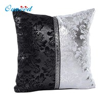 Vintage Black Silver Throw Pillow Case Cushion Cover Sofa Home Car Decor almofada funda cojin IT6601