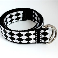 Baby/Toddler Belt- The Jester (black and white)