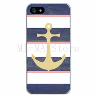 Retail Fashion Retro Green Anchor Skin TPU Protective Soft Phone Case Thin Cover For Iphone 5 5S