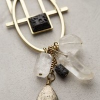 Hebrides Geo Pendant Necklace by Anthropologie Black One Size Necklaces