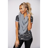 Complete Me Triangle Scarf (Chambray)