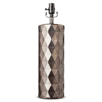 Metallic Ceramic Lamp Base Large - Bronze Glaze (Includes CFL Bulb) - Threshold™