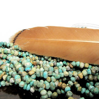 Turquoise  Pebbles Natural Beads 14 in Strand  Semi precious gemstone Necklace,bracelet earrings Jewelry supply