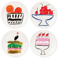 kate spade new york all in good taste Set of 4 Stoneware Appetizer Plate Set, Only at Macy's
