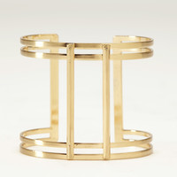 Gladiator Cuff Bangle Bracelet In Gold