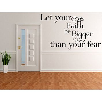 Let Your Faith Be Bigger Than Your Fear - Inspirational Wall Signs