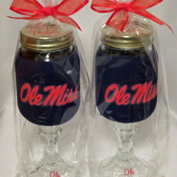 Ole Miss Redneck Wine Sippin Glass