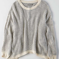 Don't Ask Why Side Slit Sweater, Natural