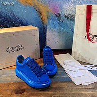 Alexander McQUEEN Men Fashion Boots fashionable Casual leather Breathable Sneakers Running Shoes-70
