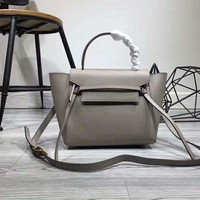 celine medium luggage phanton bag in baby grained calfskin (beige)