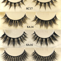 4 pairs/lot faux mink lashes Handmade false eyelash 3D strip mink eyelashes thick fake faux eyelashes Makeup beauty